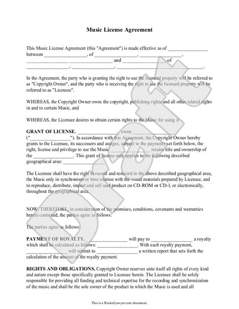 copyright license agreement template copyright license agreement template photos