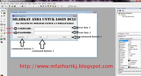 membuat form login pada visual basic fathur wiriaatmadja tutorial membuat form login di visual
