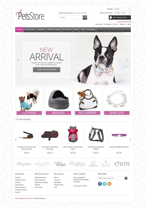 Pets Store Magento Theme 42675 Free Pet Store Website Templates