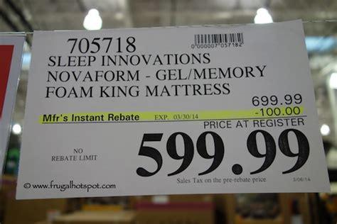 Sleep Innovations Costco Mattress by Costco Sale Novaform 14 Quot Gel Memory Foam Mattress