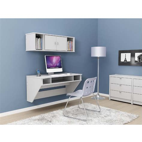 Prepac Designer Wall Mounted Floating Desk White Wehw 0500 1 White Wall Mounted Desk