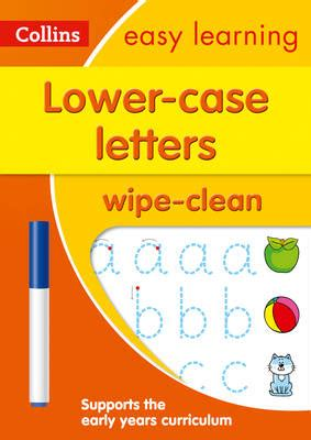 0008134200 collins easy learning age lower case letters age 3 5 wipe clean activity book