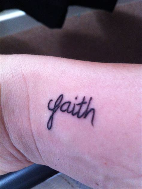 words for wrist tattoos right wrist word faith