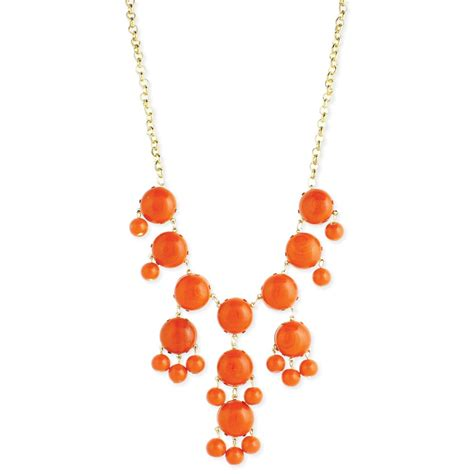 wholesale light orange bead necklace zad
