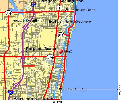 map of florida pompano pompano fl