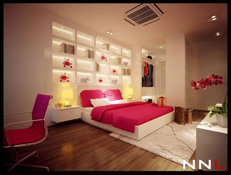 Pink White Bedroom Interior Design Ideas Bed Rooms