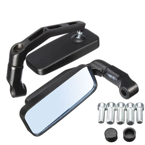 8mm 10mm Aluminum Motorcycle Rectangle Rearview Side Mirror Universal universal motorcycle bike rectangle rear view mirrors 8mm