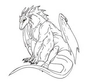 dragon lineart by glintzdragon on deviantart