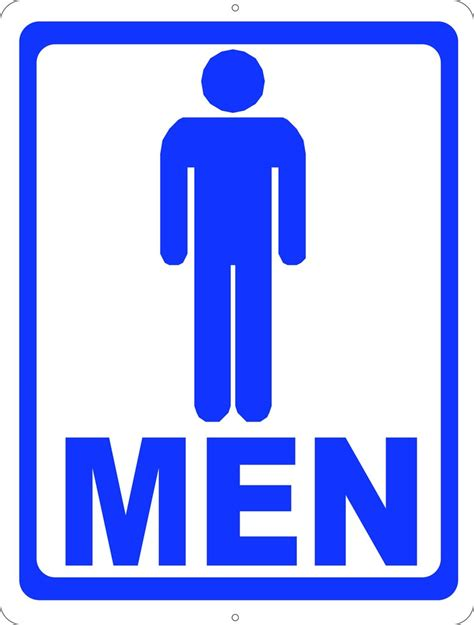 mens room mens room w symbol bathroom sign signs by salagraphics