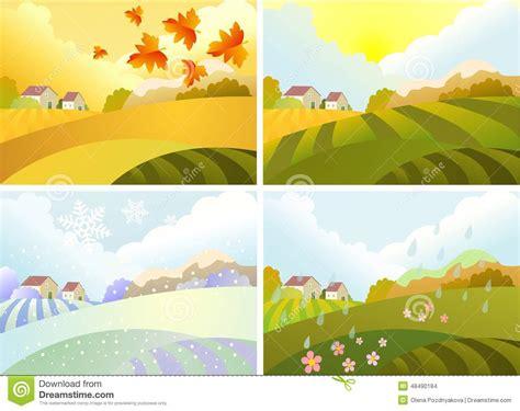 imagenes de invierno verano otoño y primavera ejemplo de cuatro estaciones invierno primavera verano