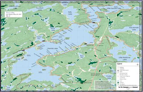 kennisis lakes map kennisis lake mappery