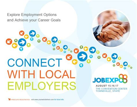 Job Expo Career Fair Poster Template Graphic Design Pinterest Career Poster Templates Career Fair Template