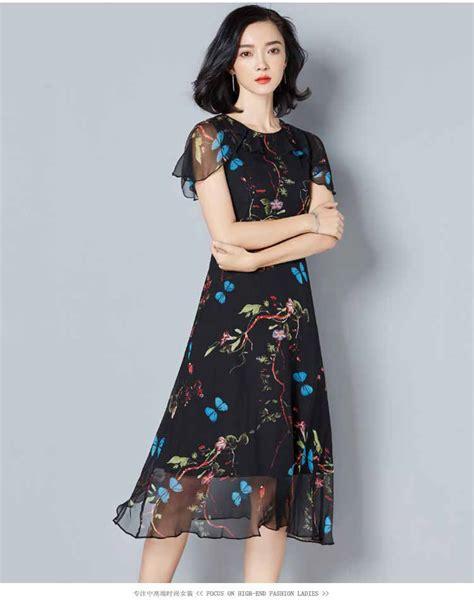 Hitam Motif Warna dress warna hitam motif cantik myrosefashion