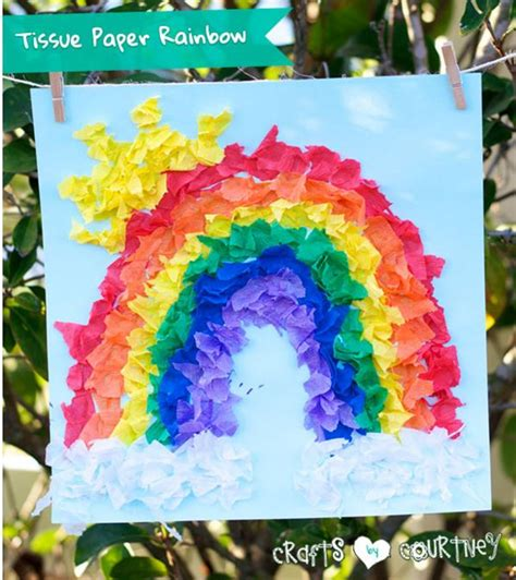 tissue paper rainbow craft 5 easter craft activities easy peazy sensoryedge