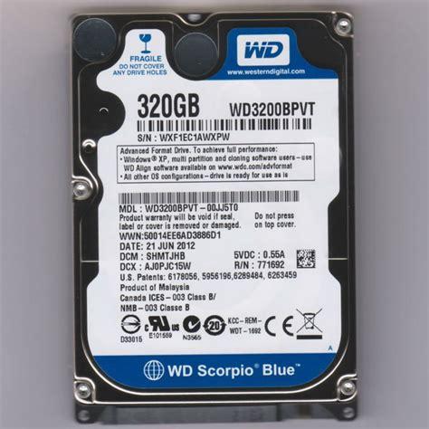 Hardisk Laptop Wd Scorpio Blue 320gb Esistore