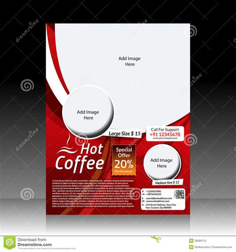 flyer design eps download vector coffee shop flyer royalty free stock photo image