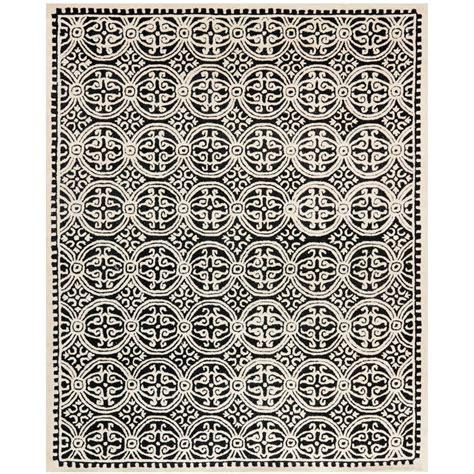 echelon area rug home decorators collection echelon black 6 ft x 9 ft area rug 8784750210 the home depot