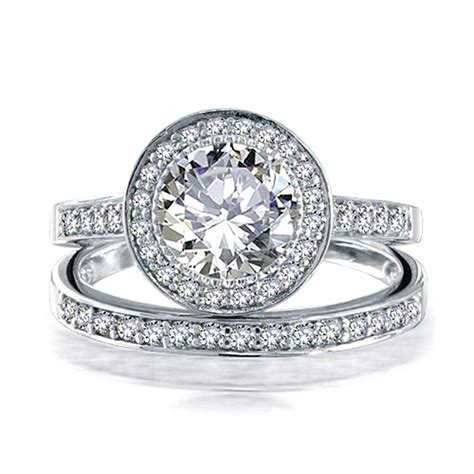 bling jewelry 925 sterling silver 2ct cz engagement