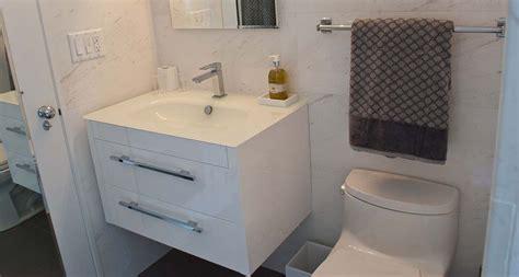 diy floating bathroom vanity floating vanity in a small bathroom good choice