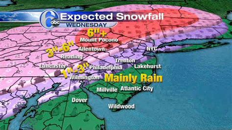 us weather map accuweather accuweather maps wednesday s expected snowfall 6abc