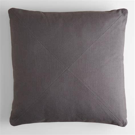 Gray Throw Pillows Tornado Gray Herringbone Cotton Throw Pillow World Market