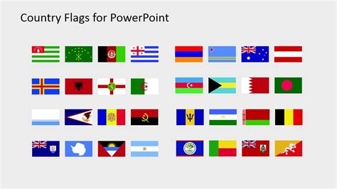 world flag templates country flags clipart for powerpoint a to b slidemodel