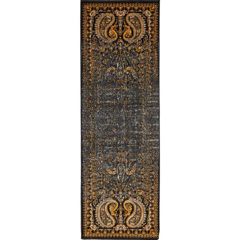 6 foot runner rug unique loom istanbul black 2 ft x 6 ft runner rug 3134939 the home depot