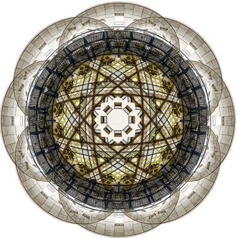 architectural kaleidoscopes: buildings spun into fractal