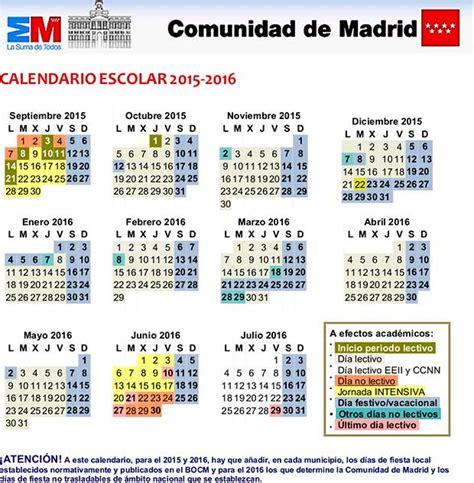 calendario escolar 2016 2017 madrid nuestro colegio centro cp manueldefalla madrid educamadrid