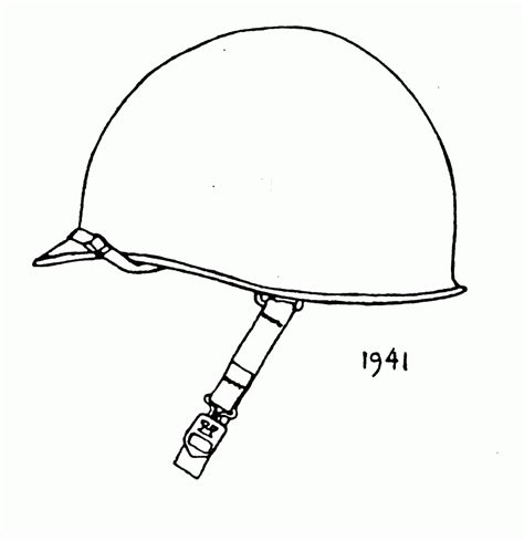 Soldier Helmet Outline by Soldier Helmet Coloring Pages