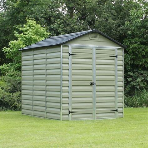 Plastic Garden Sheds 6 X 8 by 6x8 Plastic Garden Shed Skylight Storage Sheds Palram Green Building Ebay