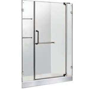 home depot glass shower doors vigo 47 75 in x 72 in frameless pivot shower door in