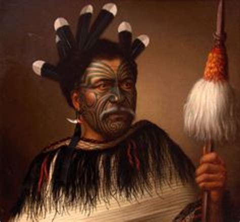 Kahuna White Tribal illustration from one of the captain cook voyages sydney parkinson portrait of a new zealand