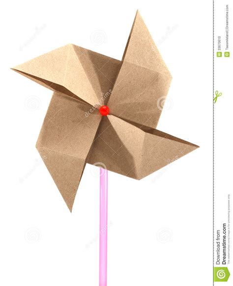 Recycled Origami Paper - origami recycle paper windmill stock photo image 33670610