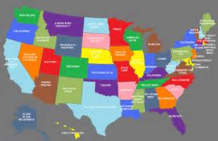 Map Of All States by Nag On The Lake Mapping The Movies 50 Films For 50 States
