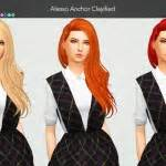 sims 4 hairs butterflysims side ponytail hair 164 sims 4 hairs nessa sims leahlillith s horus hairstyle