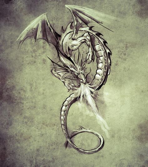 fantasy art tattoo designs sketch of