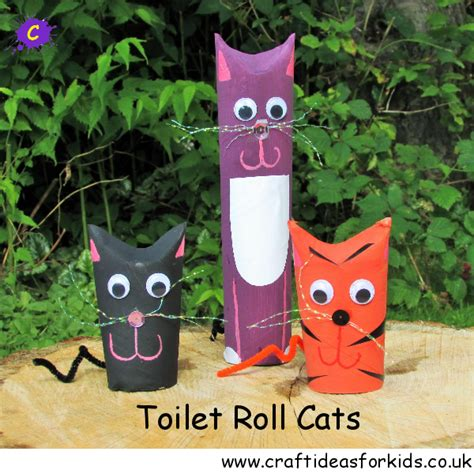 ideas for cat craft ideas for toilet roll cats crafts for