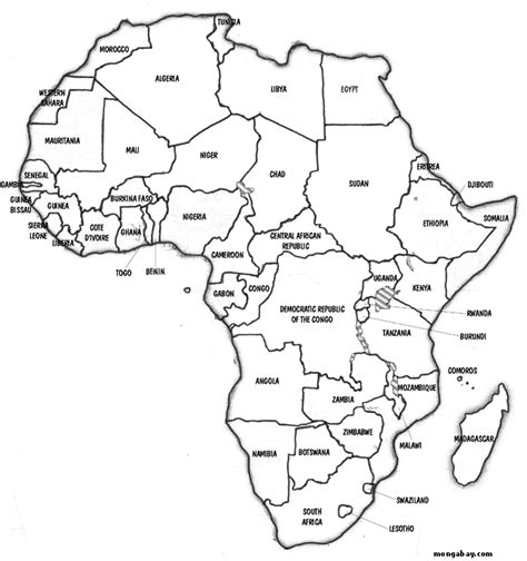 ethiopia map coloring page maps to color africa map of africa for kids to color