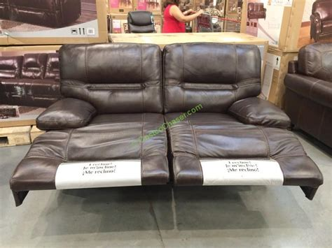 reclining leather loveseat costco costco leather sofa recliner pulaski furniture leather