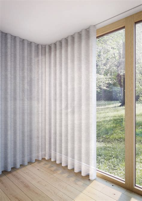 silent gliss cord operated curtain track systems