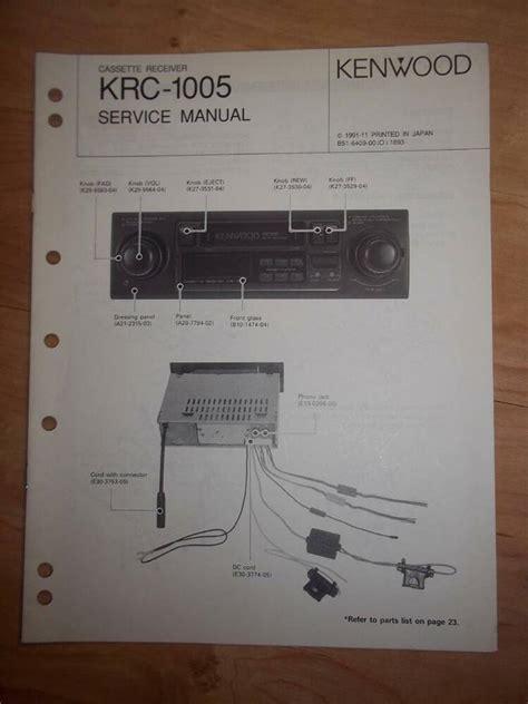 service manual how to repair top on a 1990 lexus ls engine 1989 1991 lexus es repair 1989 kenwood service manual krc 1005 cassette receiver car radio original repair ebay