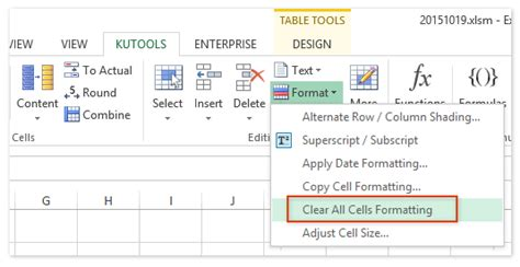 Remove Table Formatting by How To Clear Table Formatting Style Without Losing Table