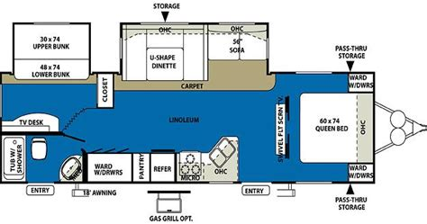 5th wheel cer floor plans wildwood fifth wheel floor plans 2010 forest river wildwood 29bhbs travel trailer riceville