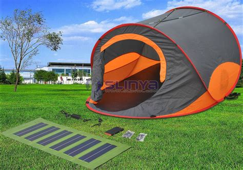 solar powered tent fan portable cing orange solar tent for sale with solar