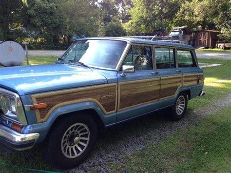 jeep wagoneer blue buy used 1988 jeep grand wagoneer spinnaker blue in high