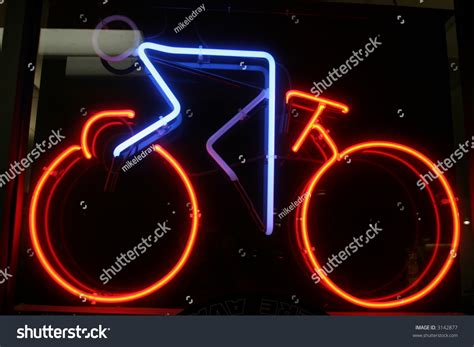 neon cycling neon sign series quot bike rider quot stock photo 3142877