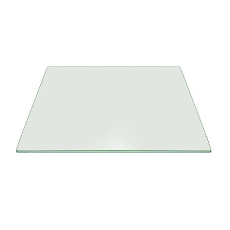 36 inch square glass table top 36 quot inch square glass pencil tempered radius corners