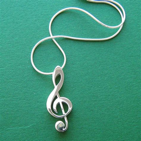 treble clef necklace by saba jewellery