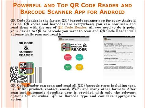 qr reader for android powerful and top qr code reader and barcode scanner app for androi authorstream